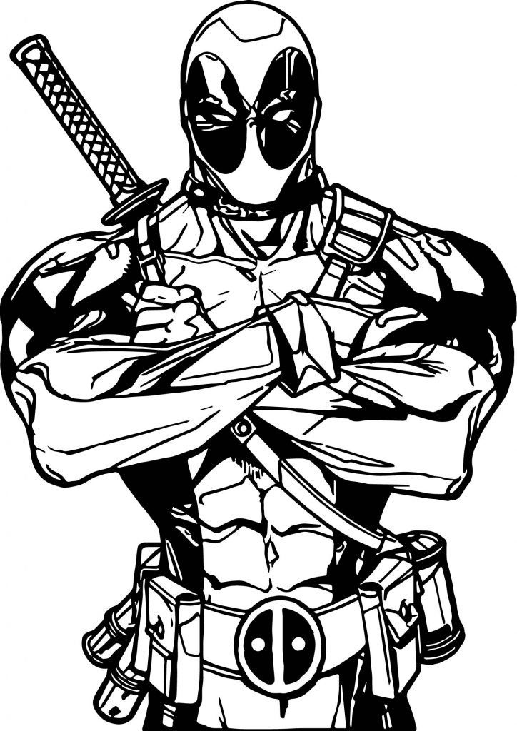 Deadpool All Is Ok Coloring Page Wecoloringpage Com