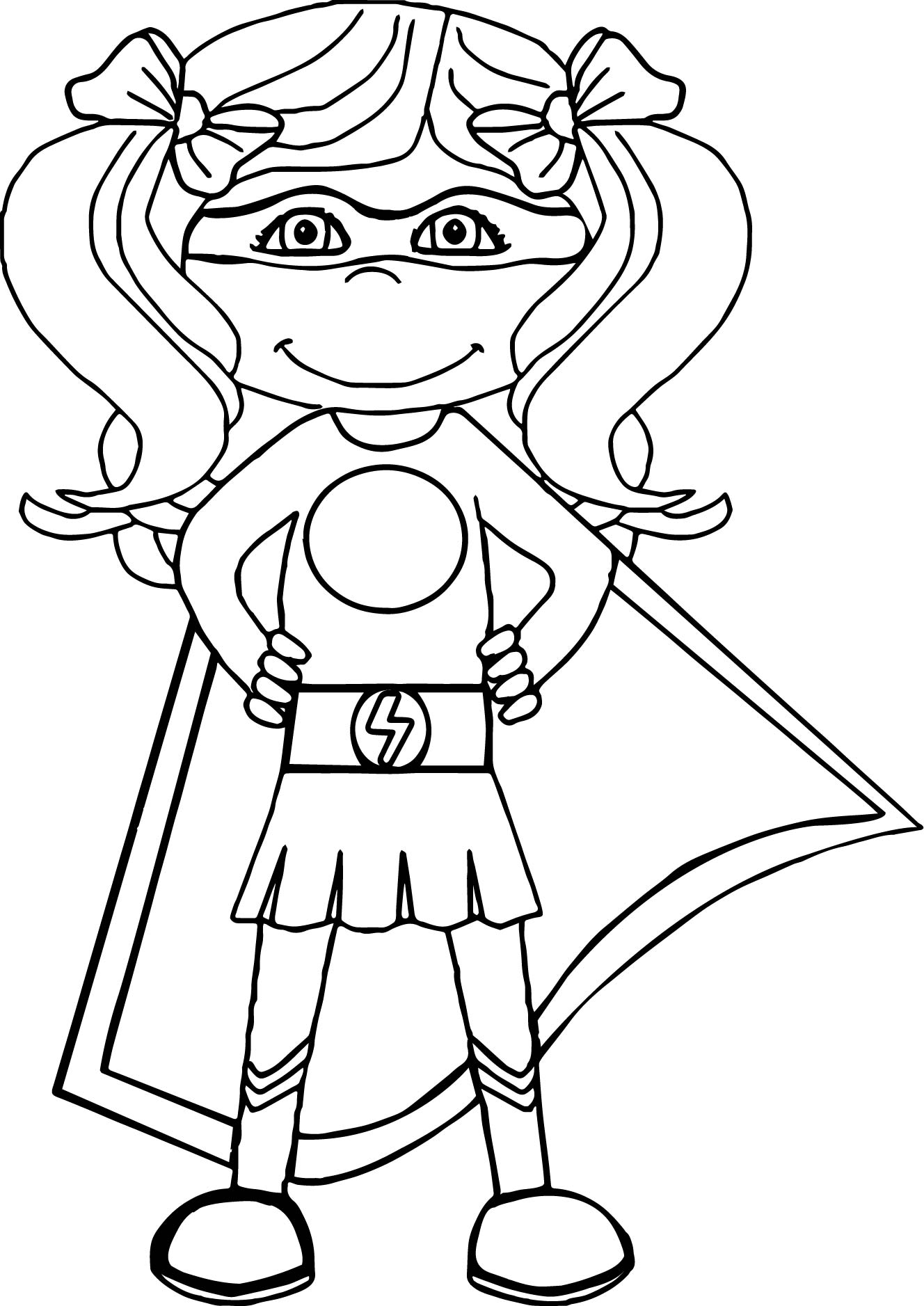 Deadpool Girl Cartoon Coloring Page