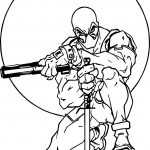 Deadpool Moon Blade Shot Coloring Page