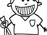 Dental Dentist Boy Coloring Page