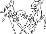 Disney Bambi Frolic Coloring Pages