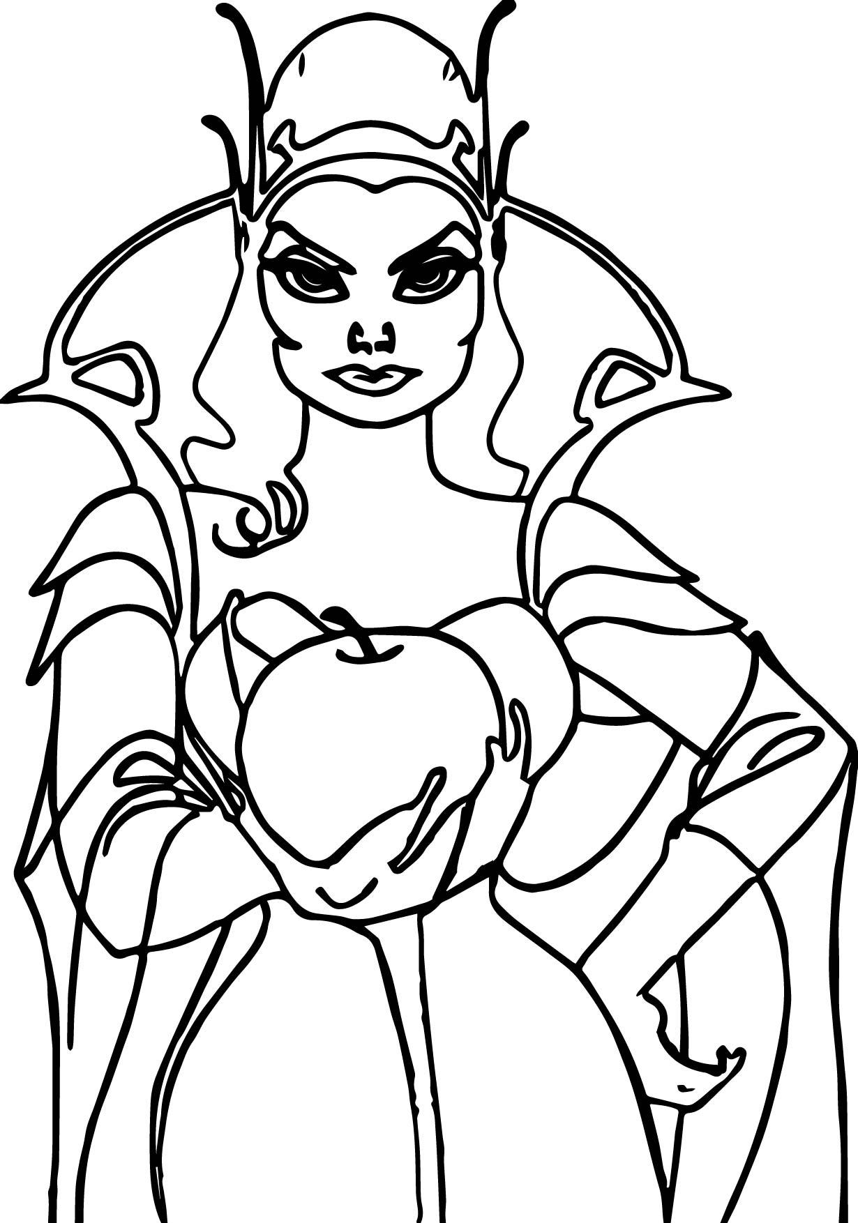 Disney Enchanted Bad Woman Coloring Page