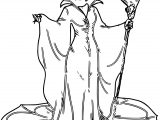 Disney Maleficent Crow Coloring Page