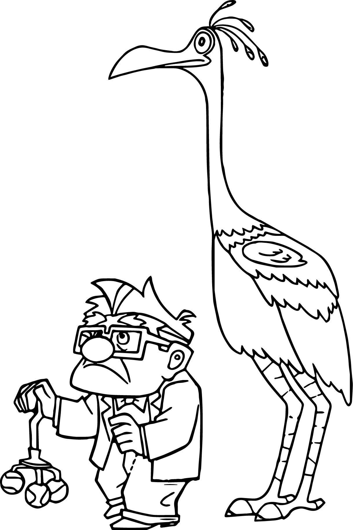 Disney Pixar Up Carl Fredricksen And Kevin Coloring Pages Up Coloring Pages