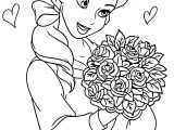 Disney Princess Flowers Coloring Pages