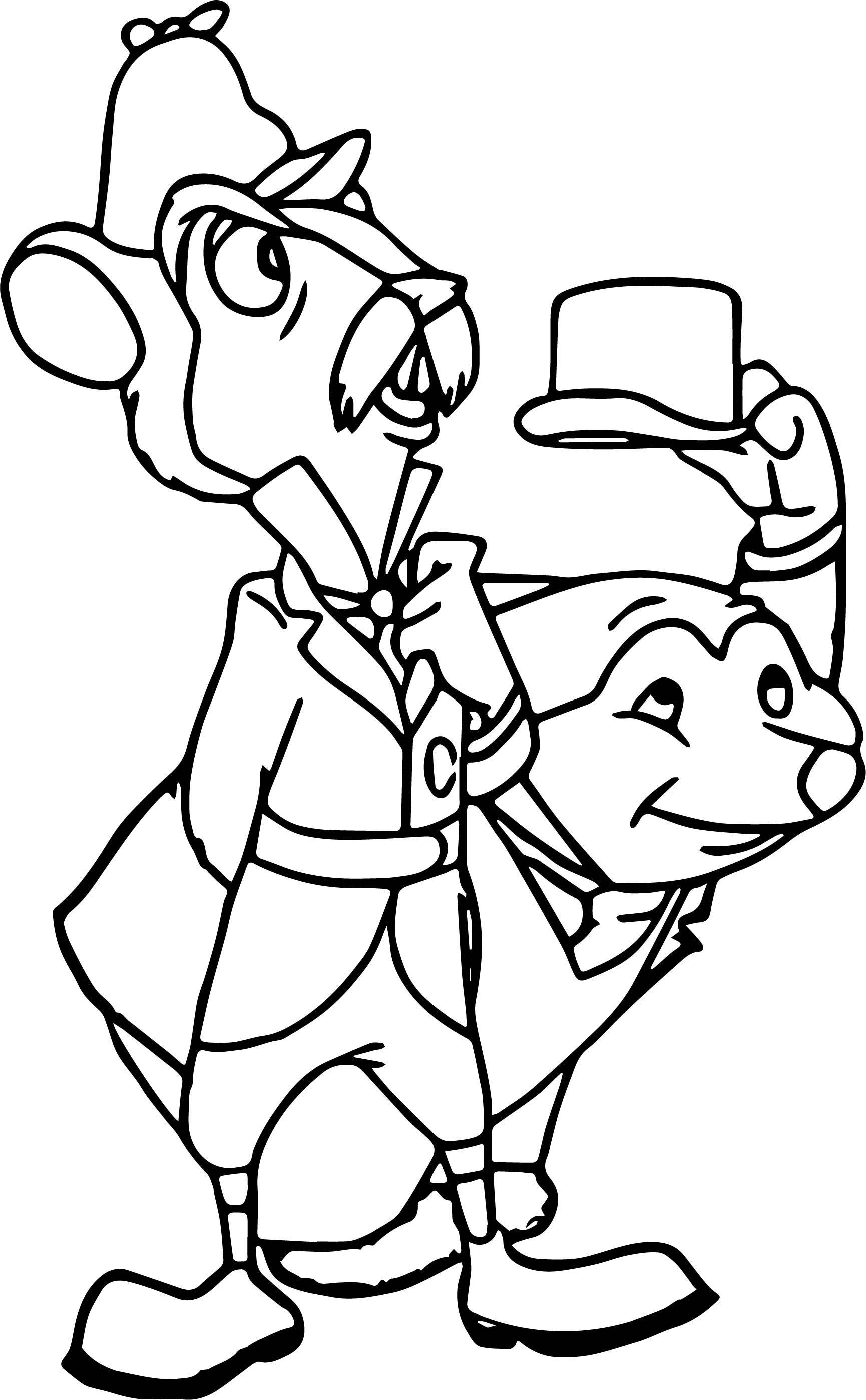 disney the adventures rat mole coloring page wecoloringpage