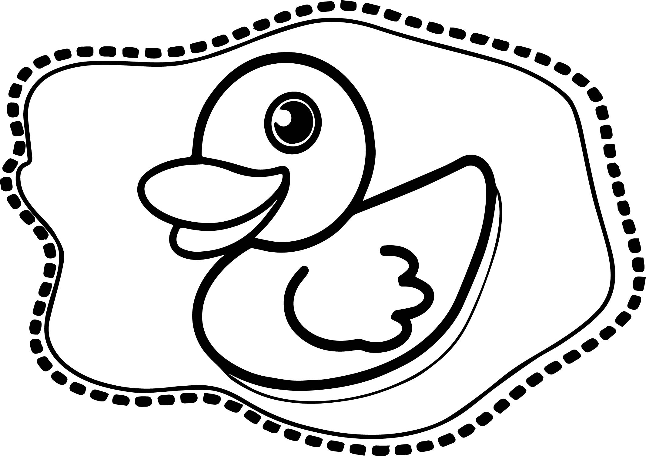 Duck Design Coloring Page