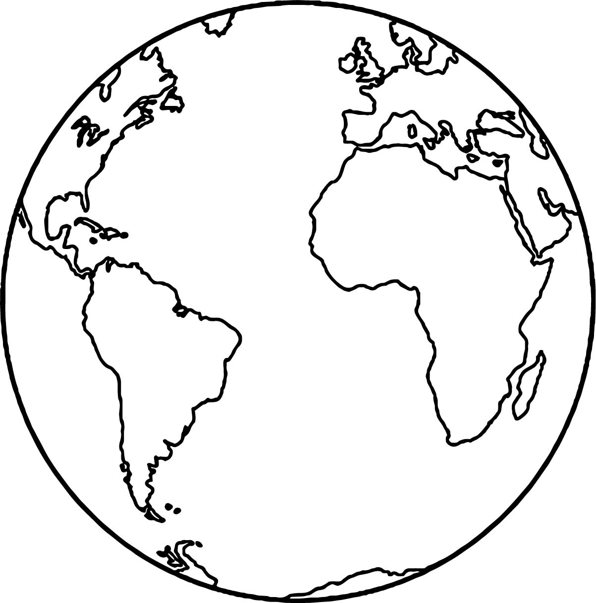 Coloring Pages Earth : Earth globe coloring page wecoloringpage
