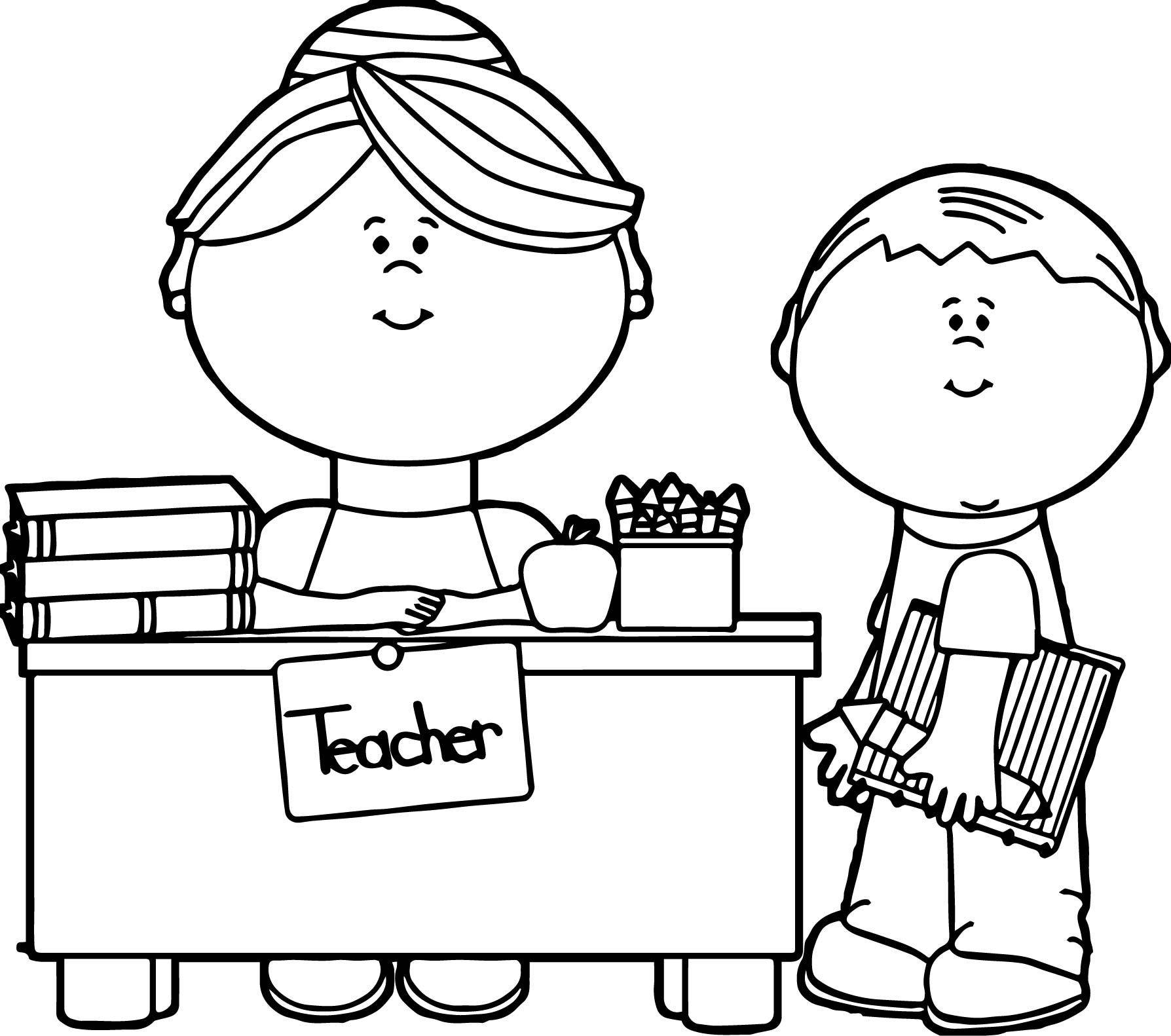 coloring pages of a teacher - photo#16