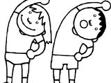 English Teacher Bend Children Coloring Page