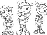 Floogals & Zachary Coloring Page