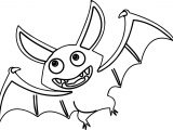 Fly Bat Coloring Page