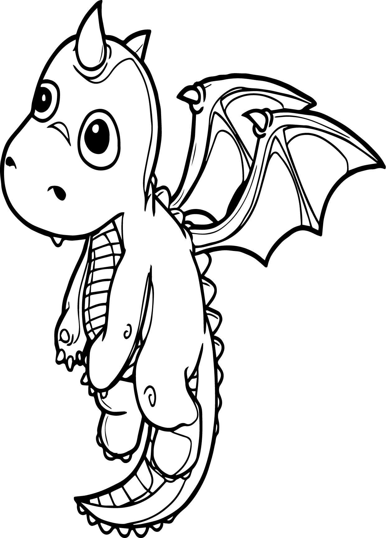 Flying Dragon Coloring Page