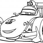 Formula Disney Car F1 Coloring Page