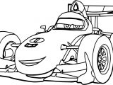 Formula Disney Car F1 Coloring Page
