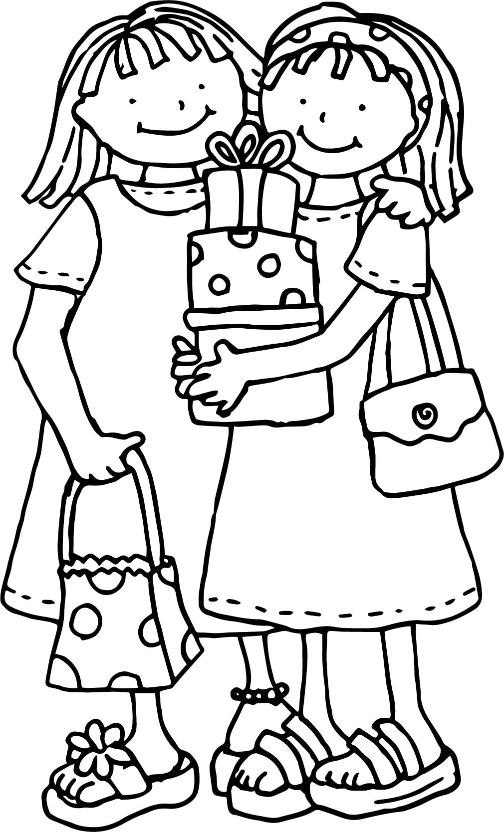 Friendship Girl Coloring Page