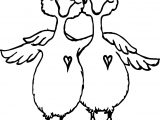 Friendship Two Duck Coloring Page