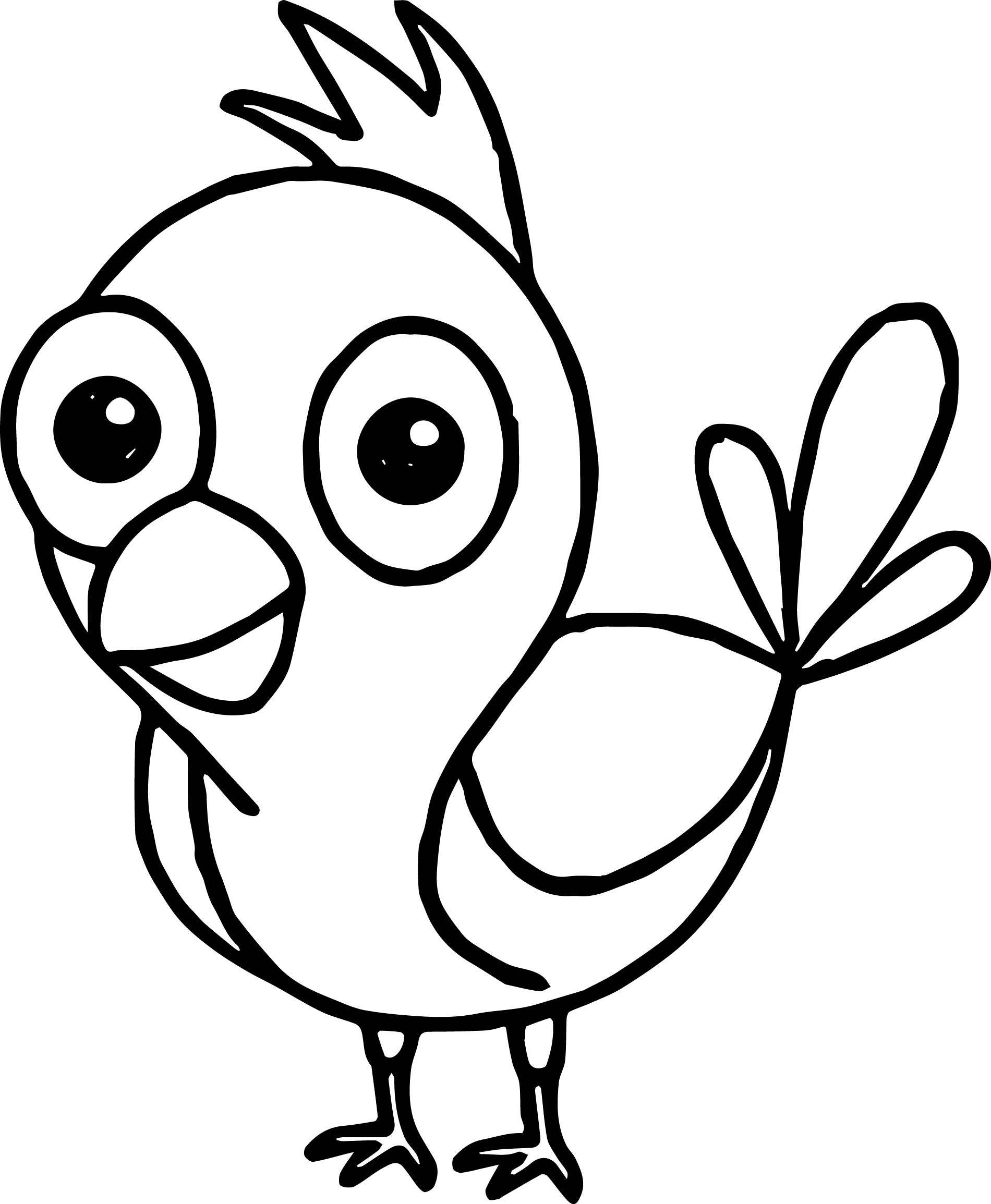 Funny bird coloring page for Coloring page of a bird