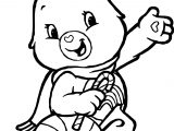 Girl Care Bears Coloring Page