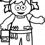 Girl Carpanter Coloring Page