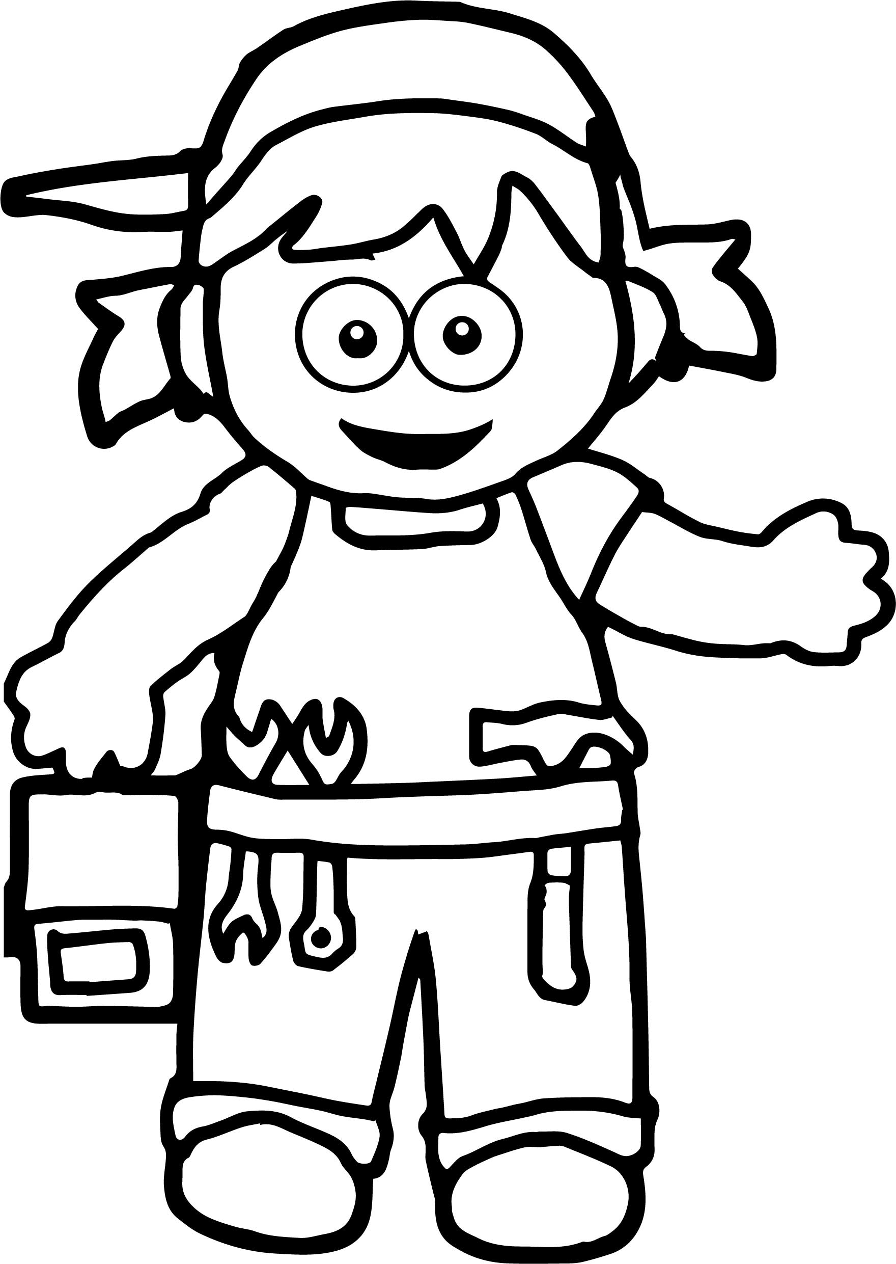 Girl Carpanter Coloring Page
