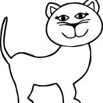 Girl Cat Coloring Page