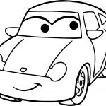 Girl Disney Cars Coloring Page