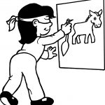 Girl Horse Board Pin Coloring Page