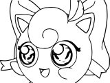 Girl Jigglypuff Coloring Page