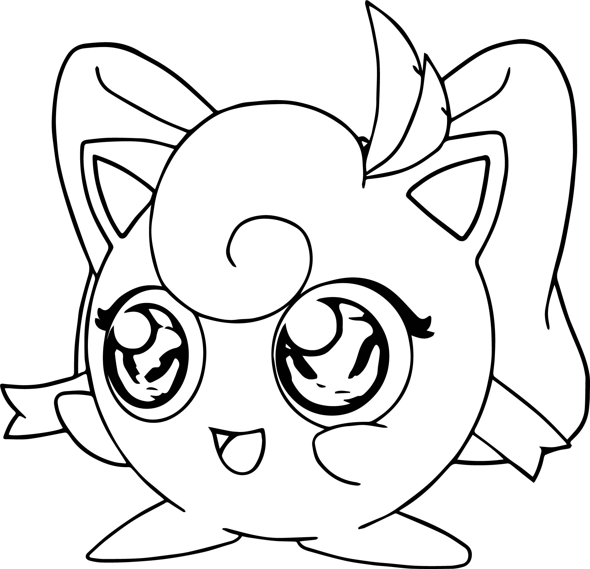 Girl jigglypuff coloring page for Jigglypuff coloring page