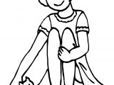 Girl & Kitten Coloring Page