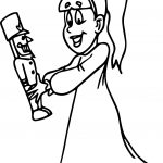 Girl With Nutcracker Coloring Page