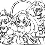 Glitter Force Team Coloring Page