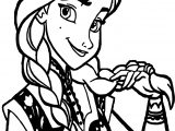 Good Anna Braids Coloring Page