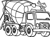 Good Cement Truck Coloring Page