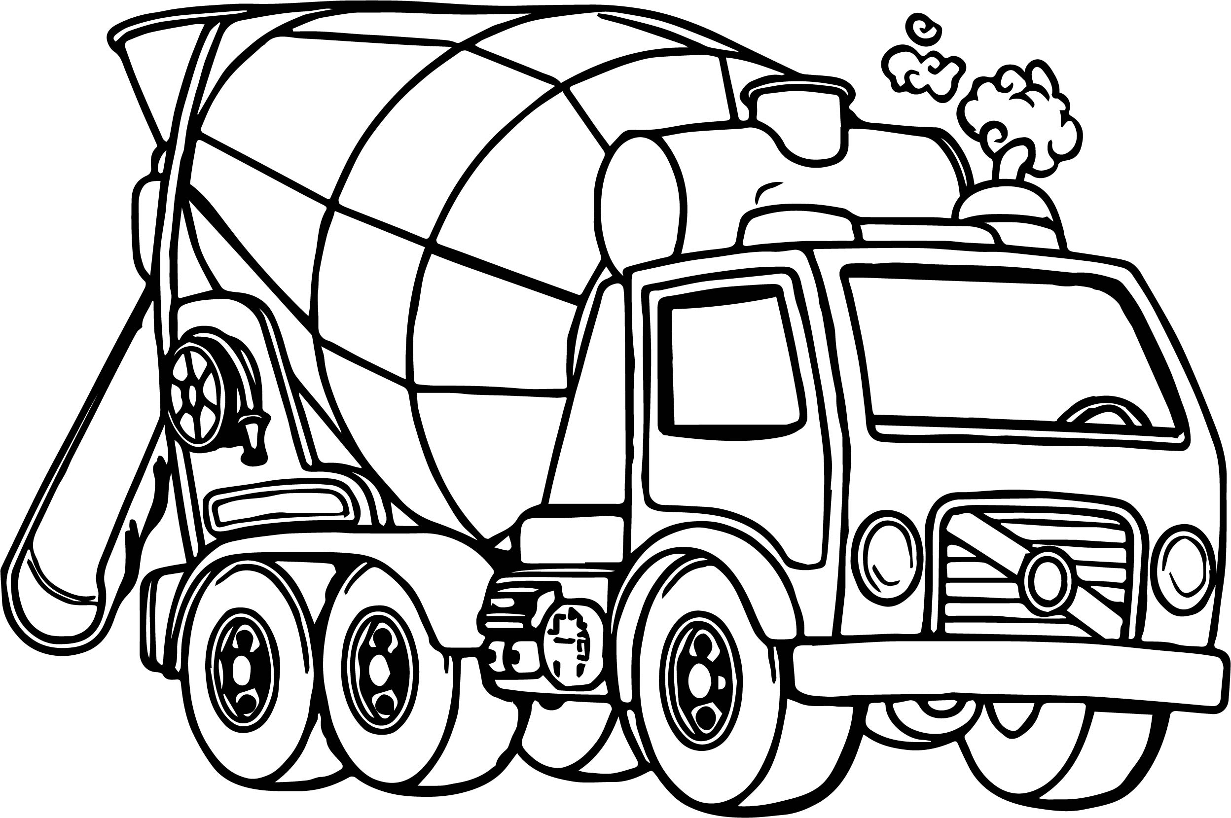 concrete mixer truck coloring pages - photo#11