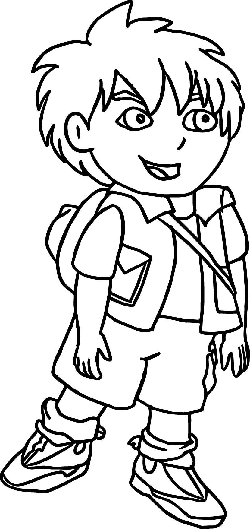 Good Go Diego Go Coloring Page Wecoloringpage Com