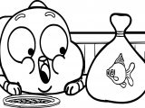 Gumball And Fish Darwin Coloring Page