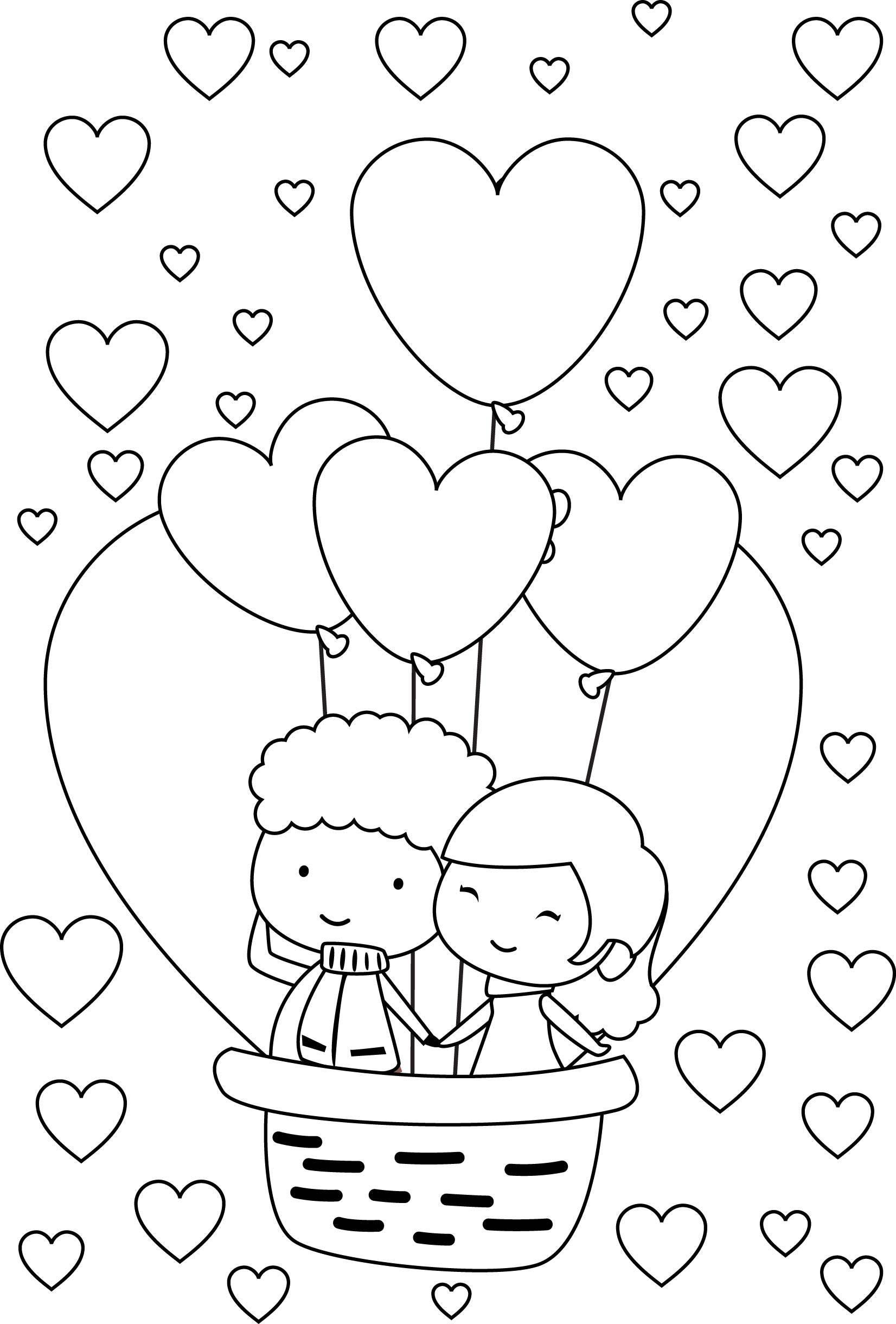 Valentine Train Coloring Pages Simpsons Coloring
