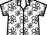 Hawaii Shirt Coloring Page