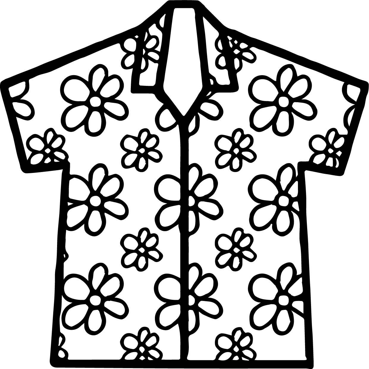 Hawaii Shirt Coloring Page