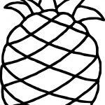 Hawaiian Pineapple Free Coloring Page