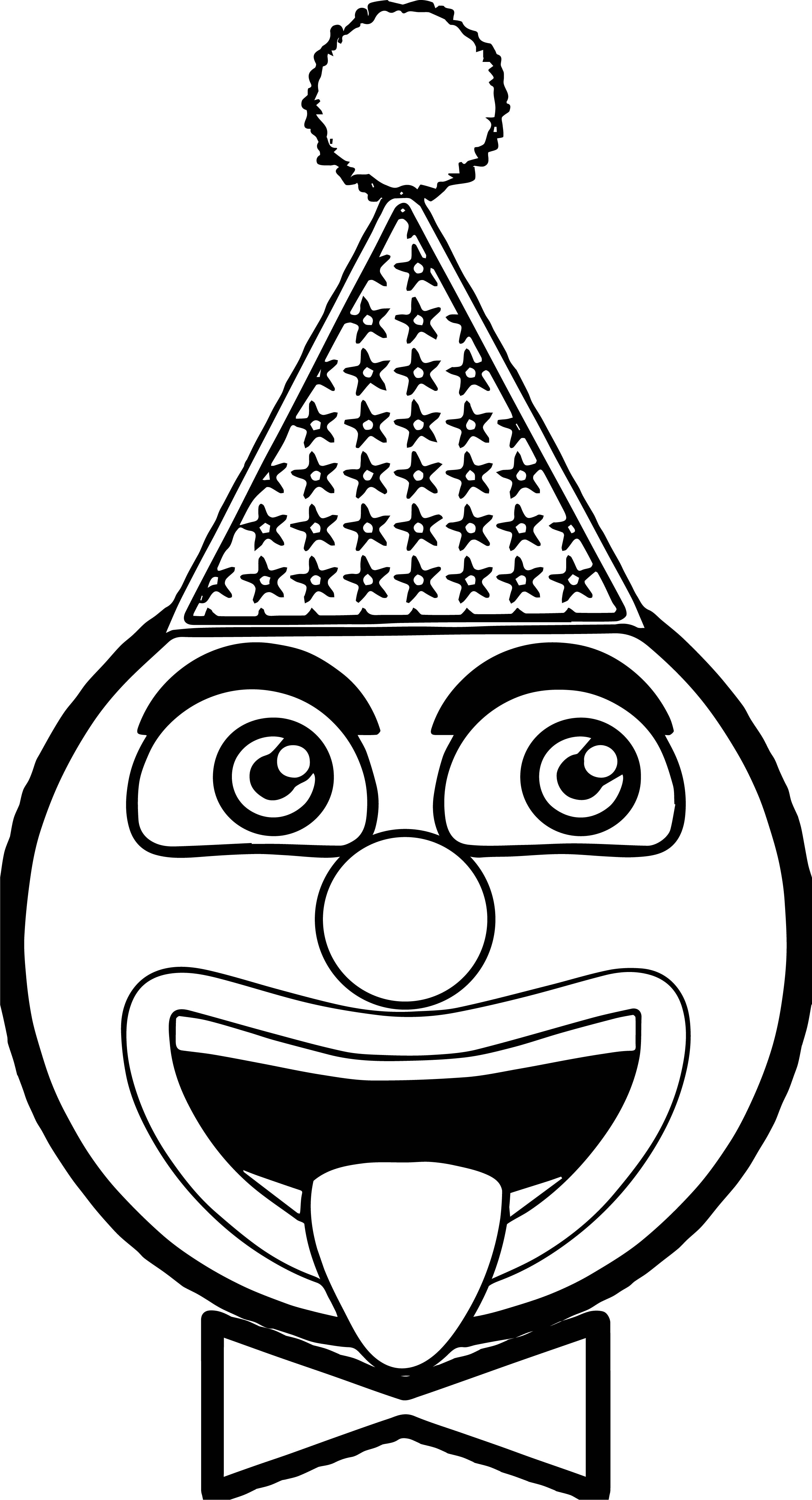 Head clown coloring page for Clowns coloring pages