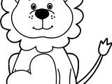 Heart Lion Coloring Page