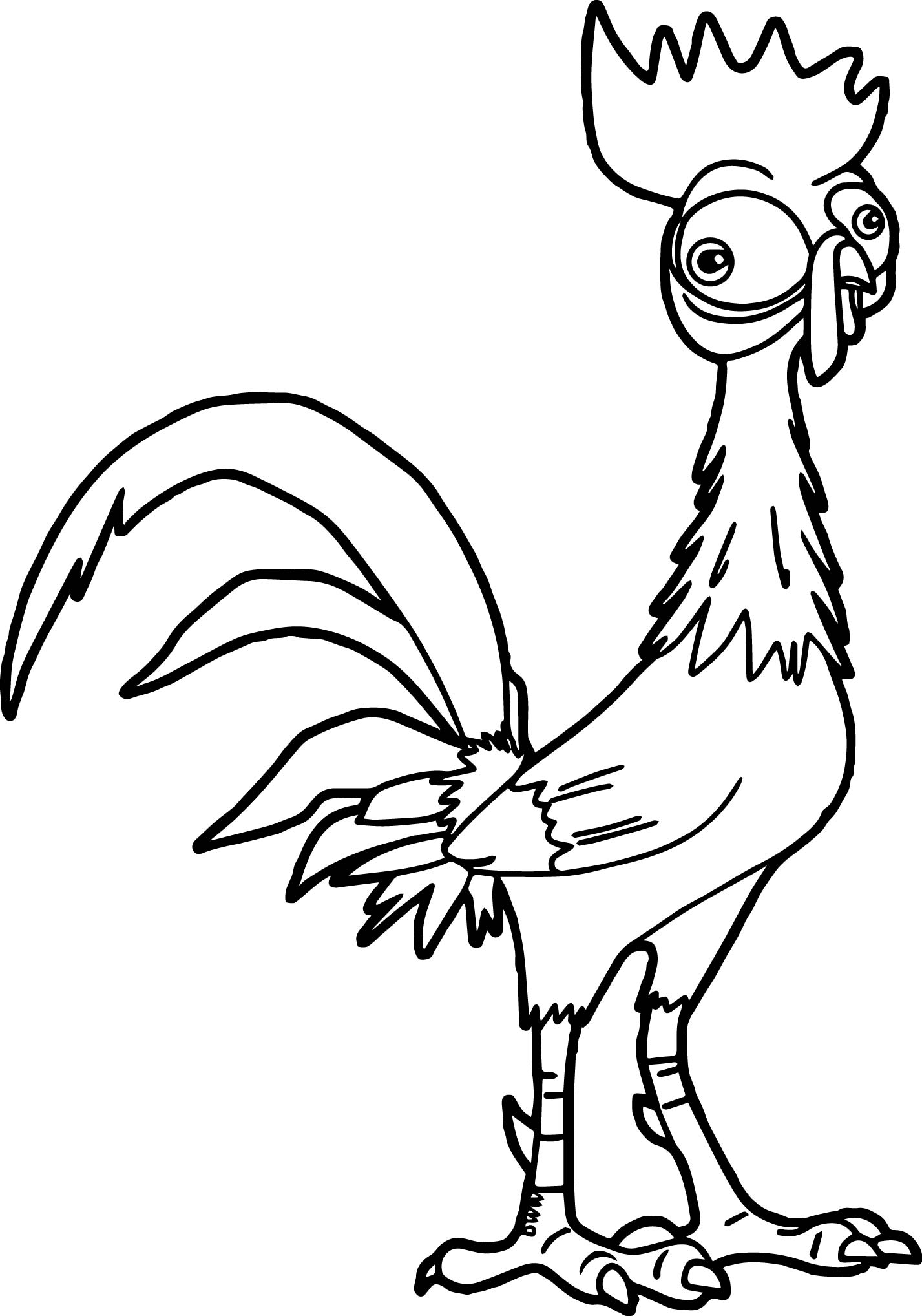 heihei the roaster coloring page wecoloringpage