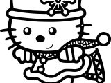 Hello Kitty Slide Coloring Page