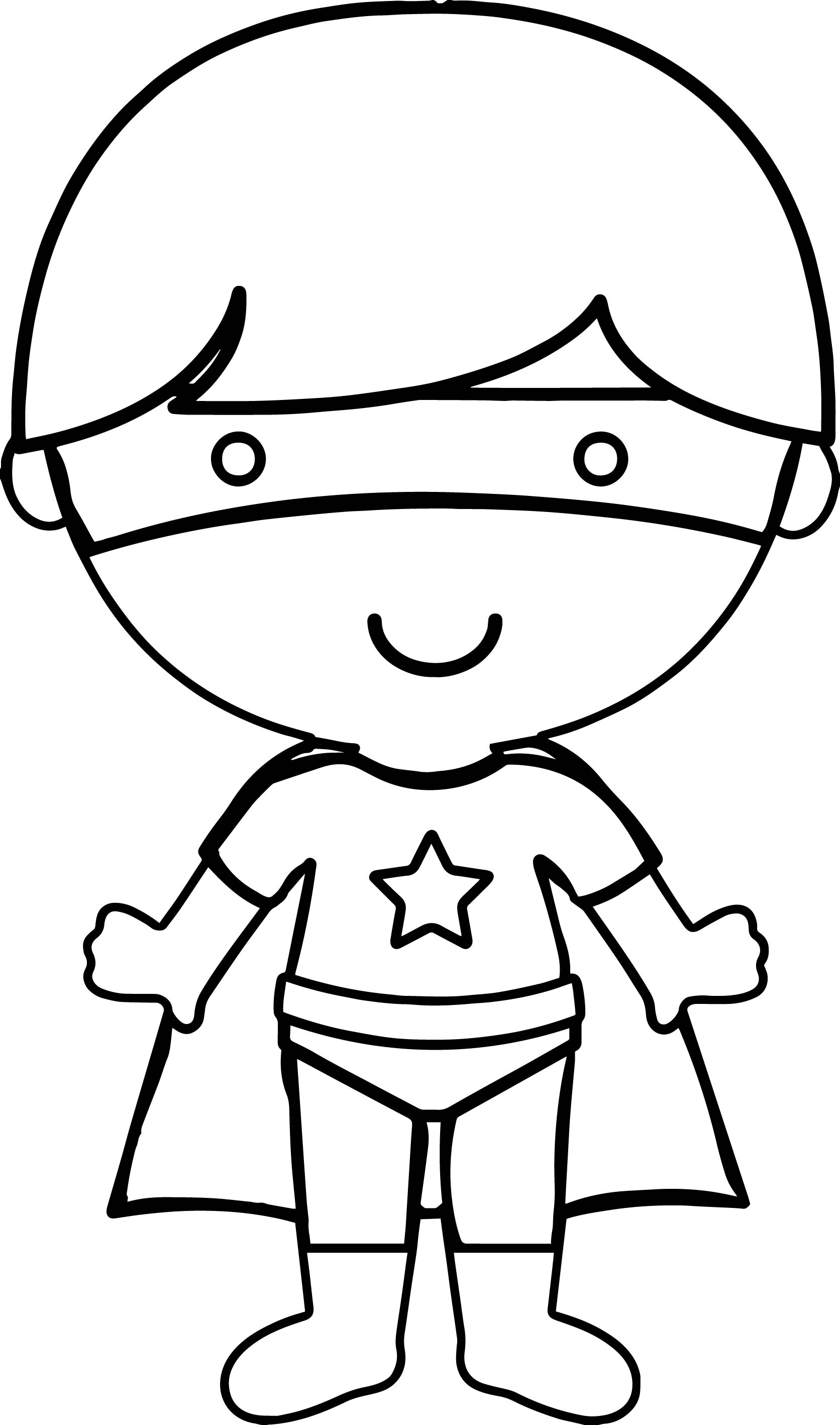 Hero Boy Coloring Page