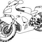 Honda Bike Coloring Page