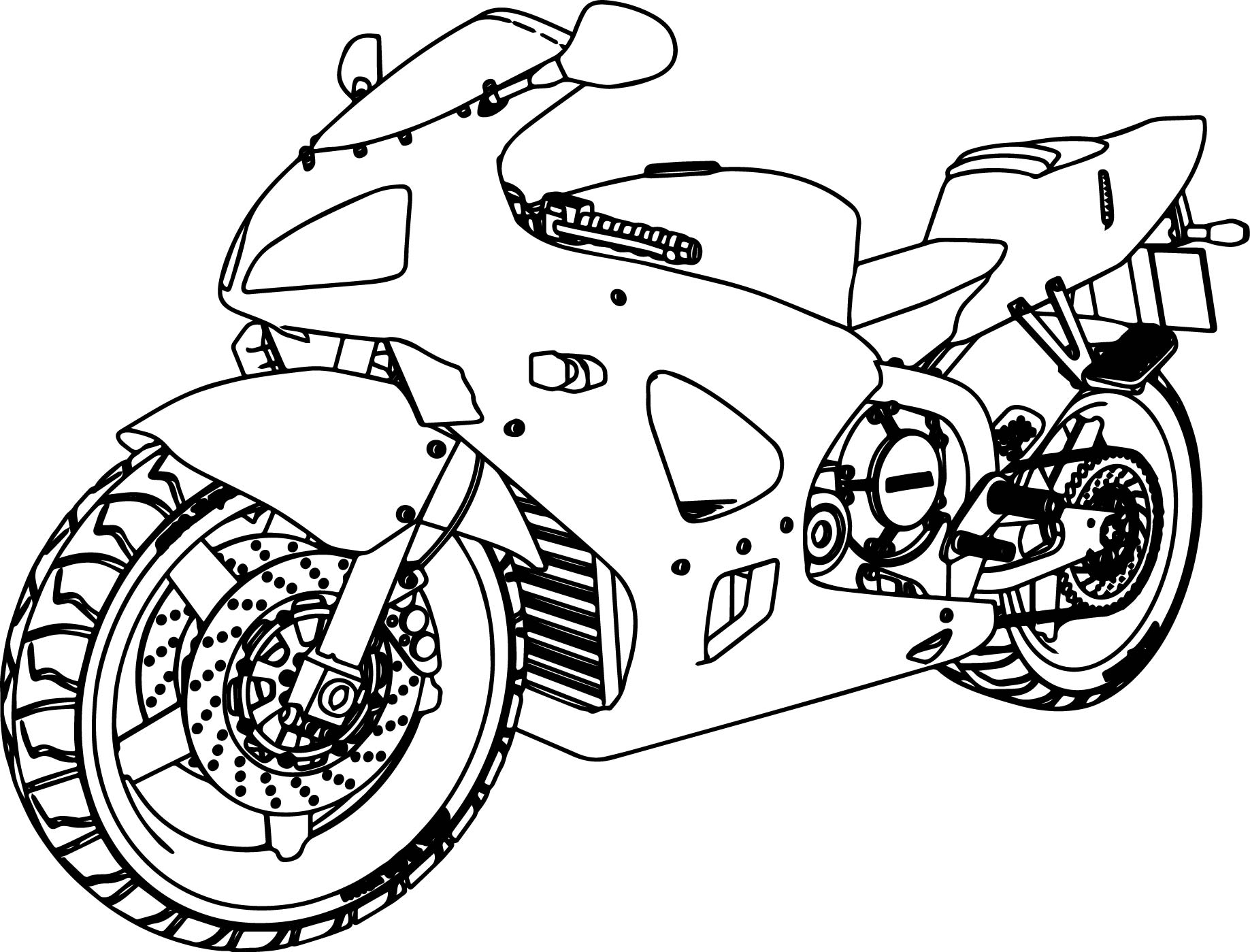 coloring pages of bikes