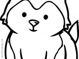 Husky Baby Coloring Page